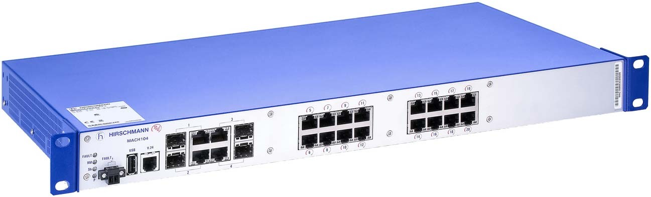 Hirschmann Gigabit/10 Gigabit Ethernet PoE Switches, 22-24 Ports